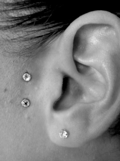 piercing au lobe