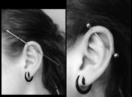 #1094 piercing industriel douleur | AMERICAN BODY ART