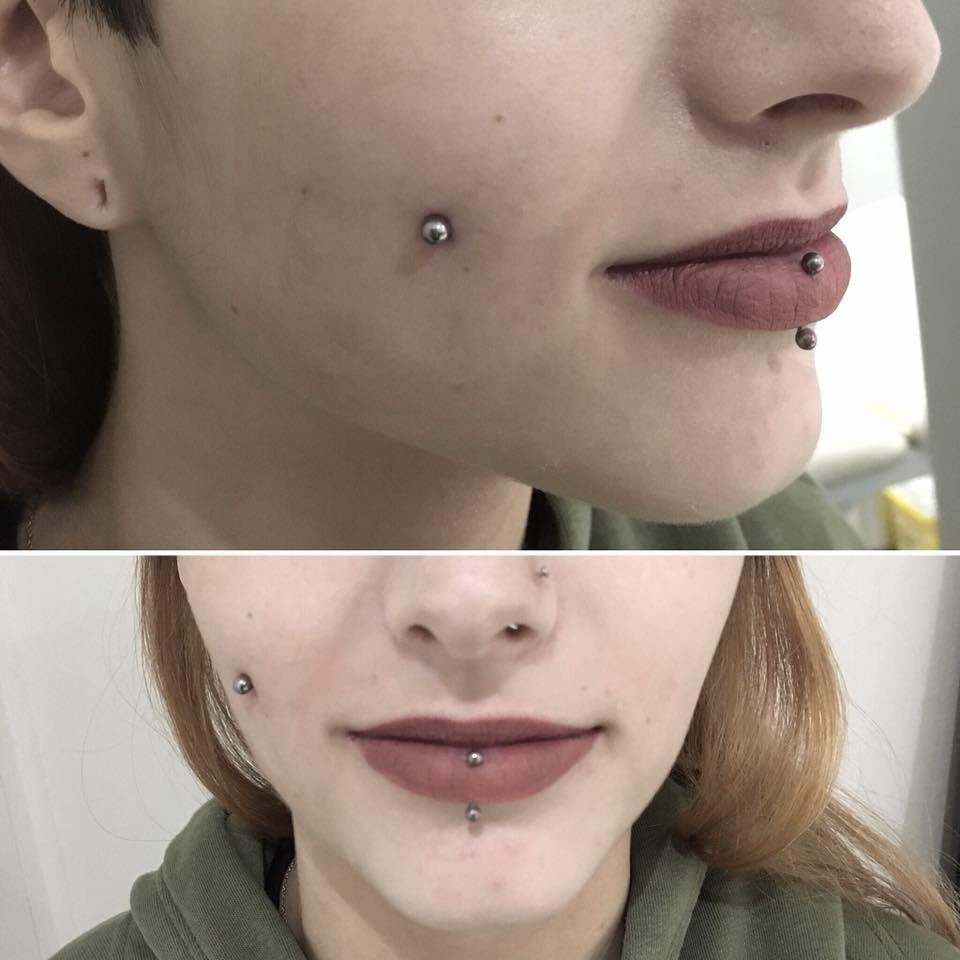 piercing cheeck