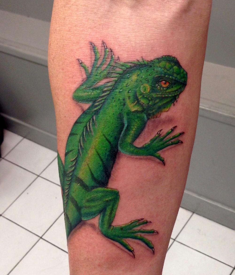 tatouage lézard american body art