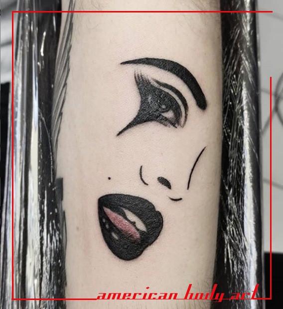 tatouage visage american body art