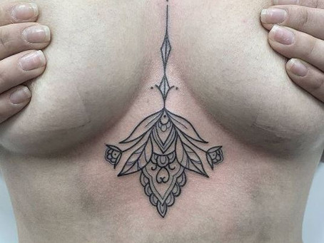 #1257 Tattoo Under boob | AMERICAN BODY ART