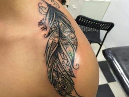 #1210 Tattoo plume