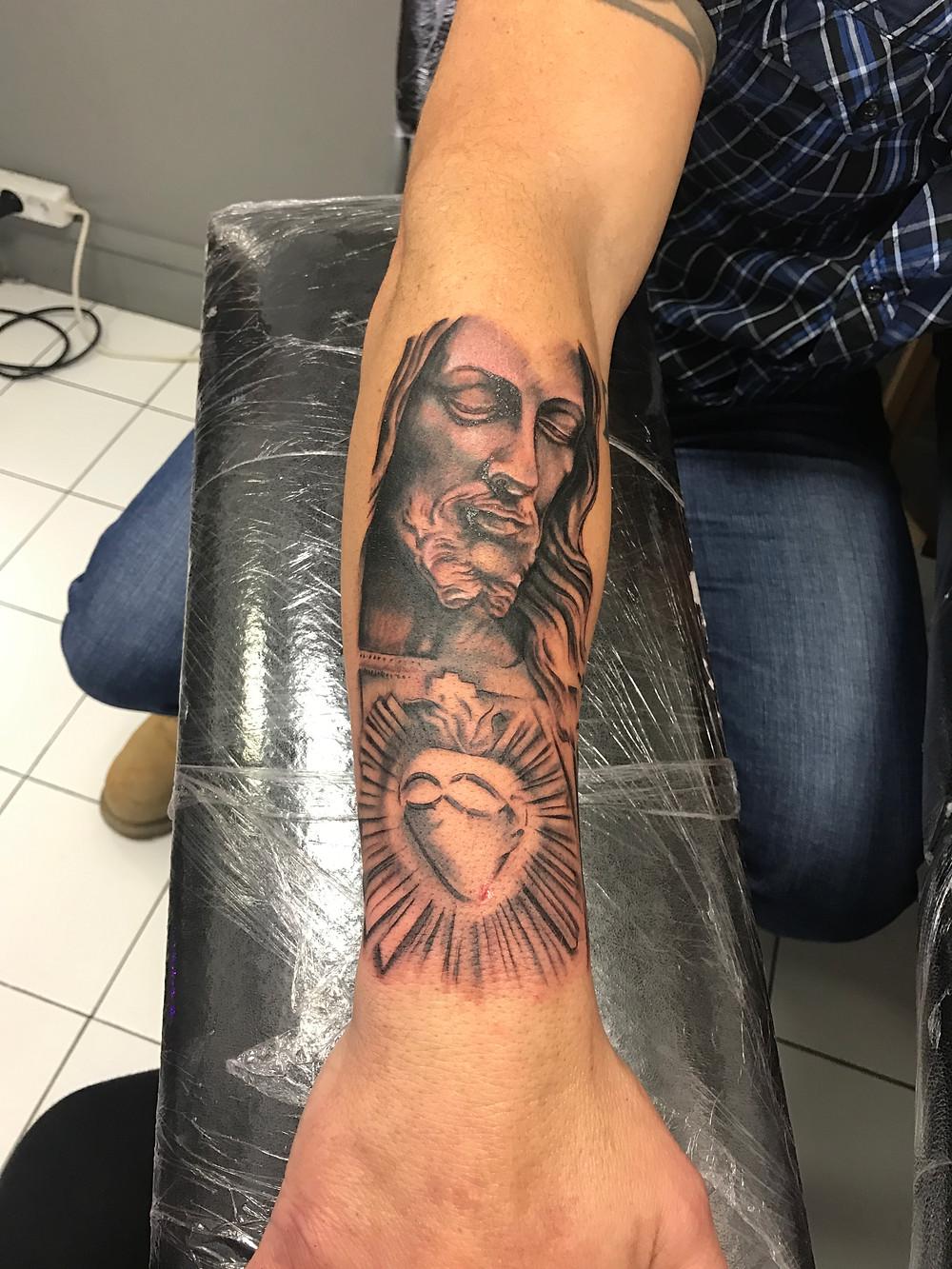 Tatouage Réaliste Jesus - American Body Art