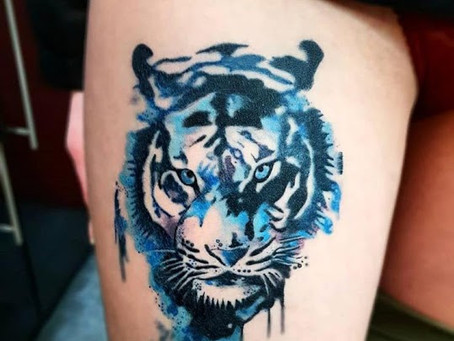 #1074 Tattoo Tigre couleur | AMERICAN BODY ART