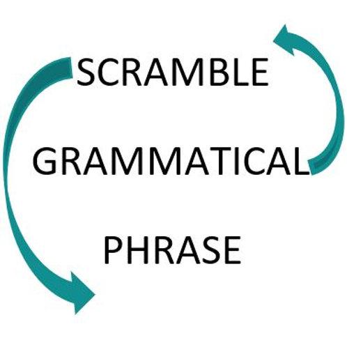 Grammatical Phrase Scramble