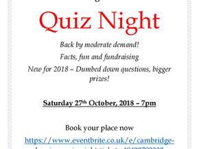 Cambridge Harriers Quiz Night 2018