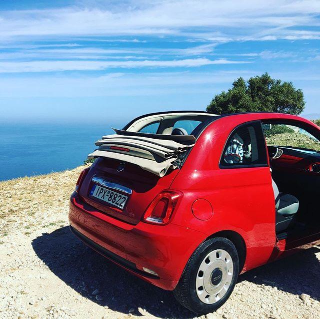 Podróże małe i duże ;) #trip #fiat500c #cabrio #kefalonia #greece #spelniamymarzenia