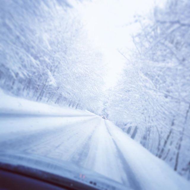 #zima #winter #snow #roadtoheaven