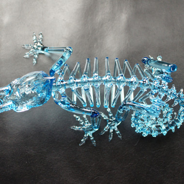 Jackson's chameleon skeleton (raindrop)