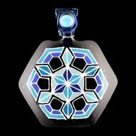 Asanoha Ninja Star pendant (blue)