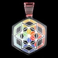 Asanoha Ninja Star pendant (rainbow)