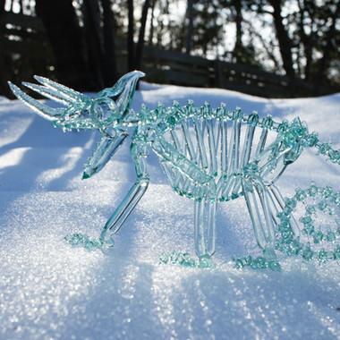Jackson's chameleon skeleton (tonic)