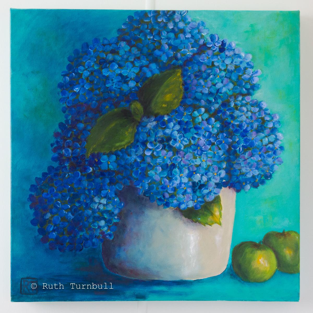 Blue Hydrangea by Ruth Turnbull