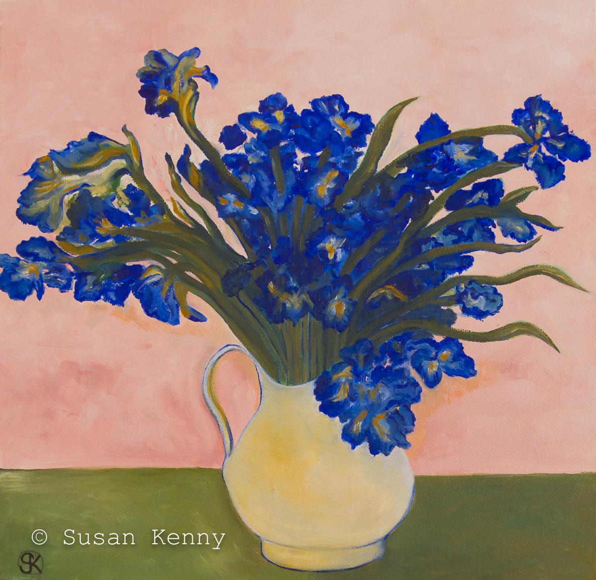 Irises, after Van Gough