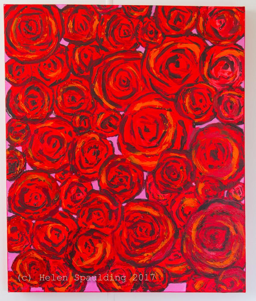 Bunch of Roses by Helen-Spaulding