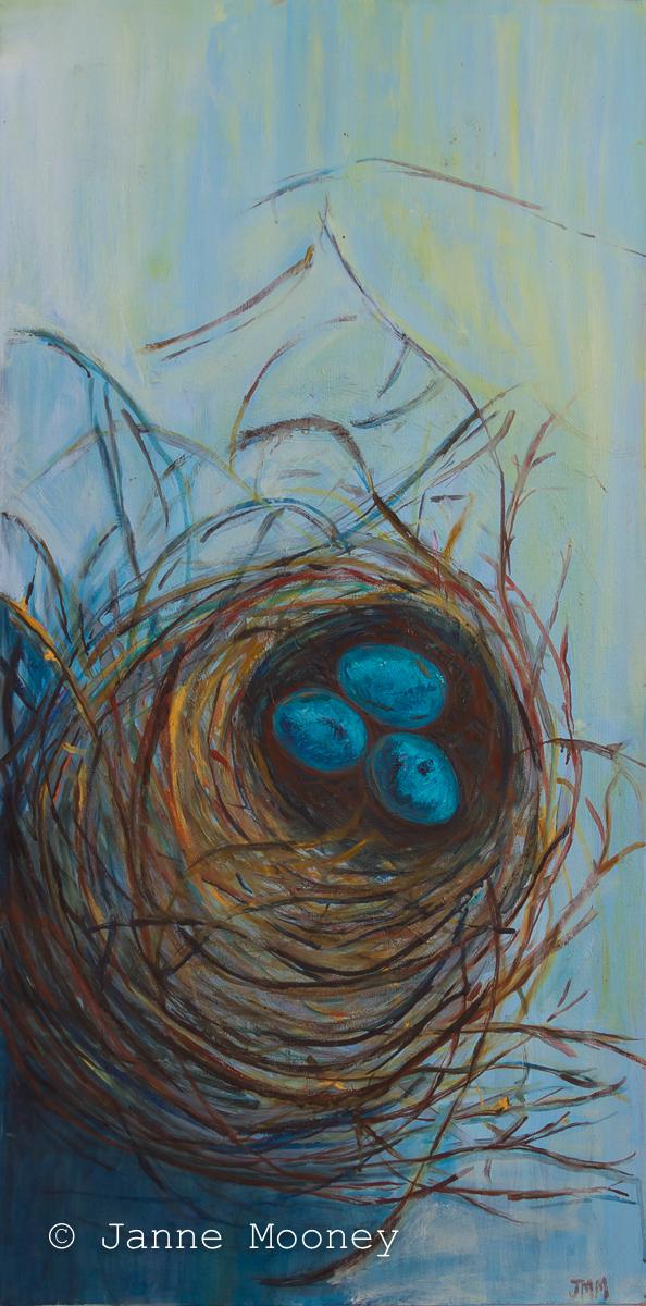 Eggs in Nest by Janne Mooney