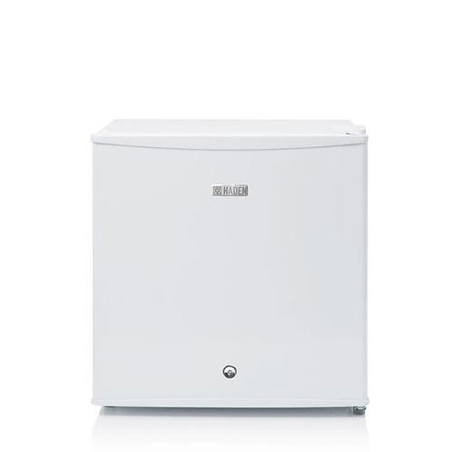 HR50W Tabletop Compact Fridge With Lock, White