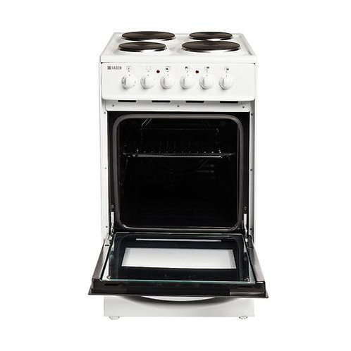 HECT50W 50cm Twin Cavity Electric Cooker With Ceramic Hob, White
