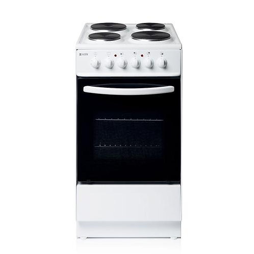HES50W 50cm 52-Litre Electric Cooker With Solid Plate Hob, White
