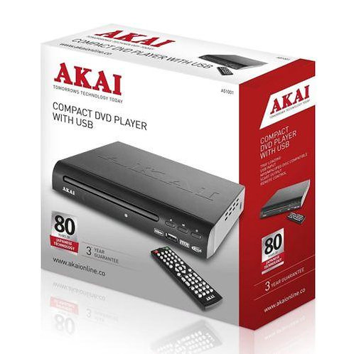 Akai A51002 Compact DVD Player with USB - Multi Region - With Scart Cable
