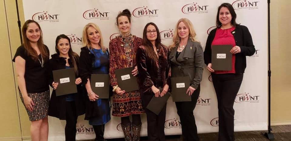 Pictured L-R, Jacklyn Padilla, Vice Chair of Membership, Jessica Montalvo, Yvonne Olivarez, Christina Ziegler, Erika Mena, Lunda Mireles & Adriana Diaz