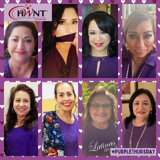 picture of members who participated in Purple Thursday Stop Domestic Violence