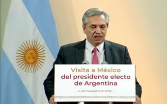 Alberto Fernández y Andrés Manuel López Obrador se reúnen en México.