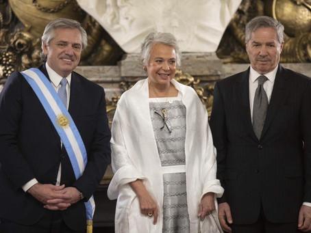 El Dr. Alberto Fernández asumió como Presidente de Argentina, la Secretaria Olga Sánchez asistió