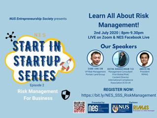 Risk Management for Business with NUS Entrepreneurship Society (NES)