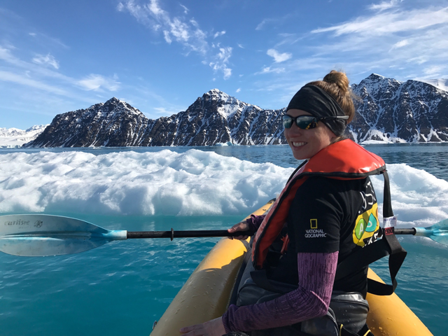 Kayaking in the Svalbard Archipelago (Grosvenor Teacher Fellow)