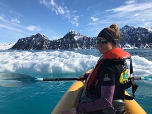 Kayaking in the Svalbard Archipelago (Grosvenor Teacher Fellow)