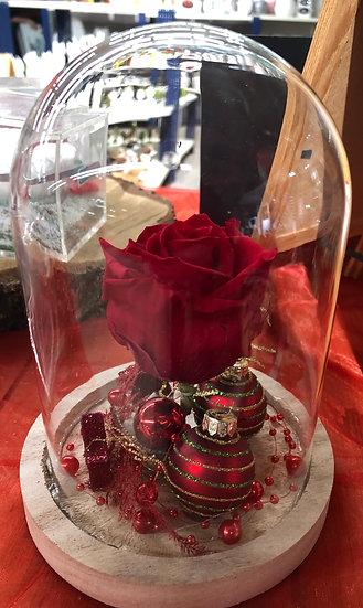 Cloche rose  éternelle noël
