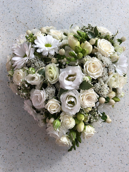 Dernier hommage petit coeur blanc