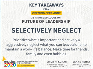 Enactus India Convention 2020 Future of Leadership Key Takeaways