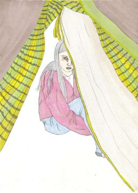 נערה באוהל