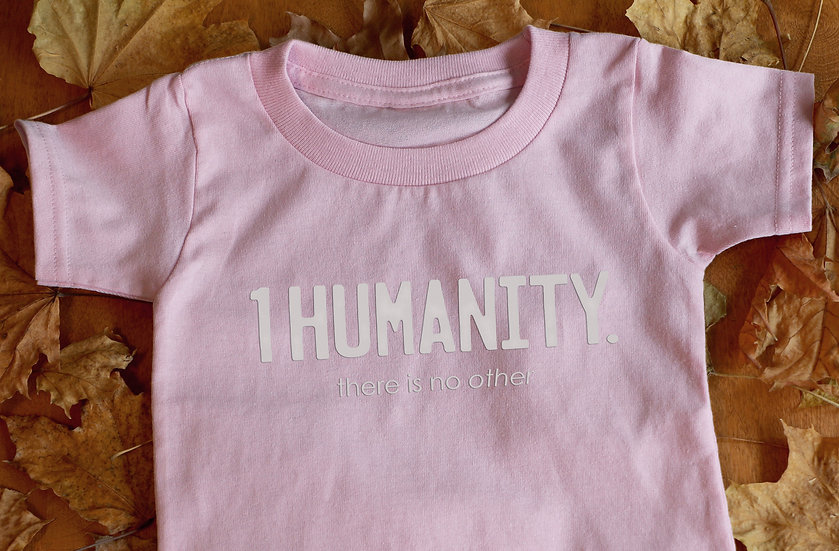 Pink Toddler T-Shirt - We Are One Humanity