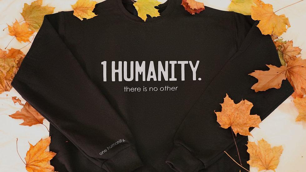 Black Adult Crewneck Sweatshirt - We Are One Humanity