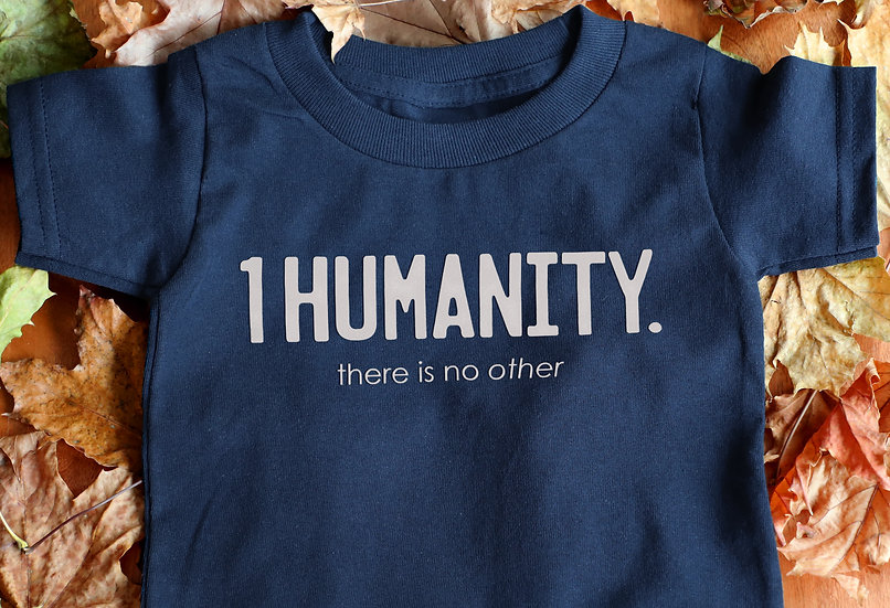 Navy Toddler T-Shirt - We Are One Humanity