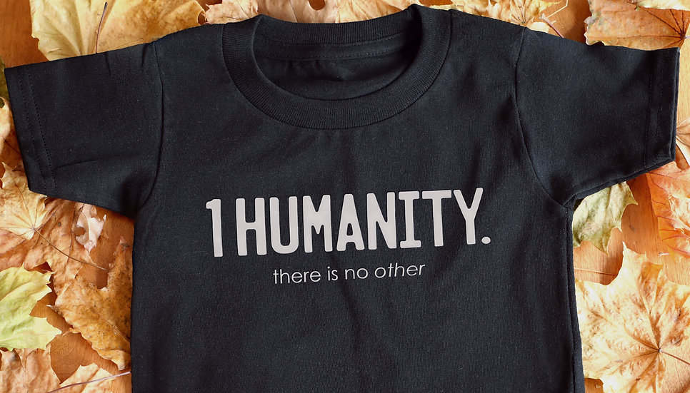 Black Toddler T-Shirt - We Are One Humanity