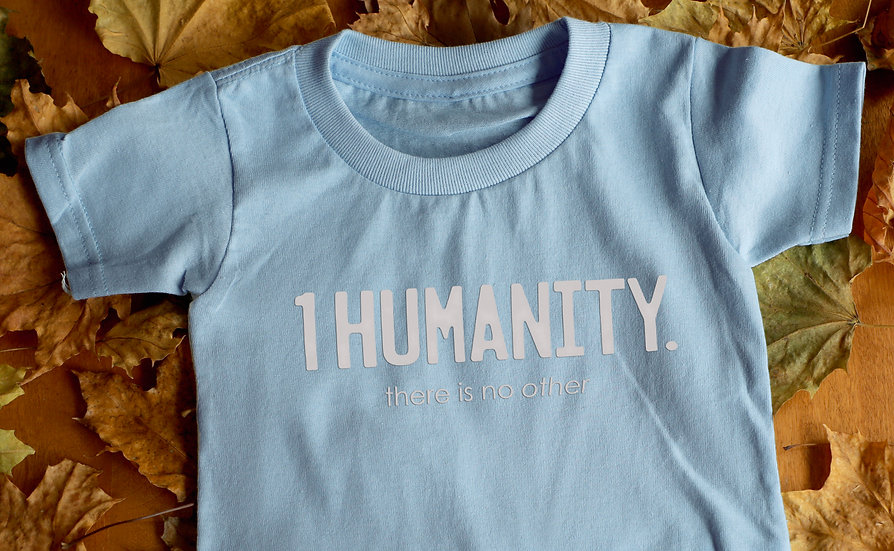 Baby Blue Toddler T-Shirt - We Are One Humanity