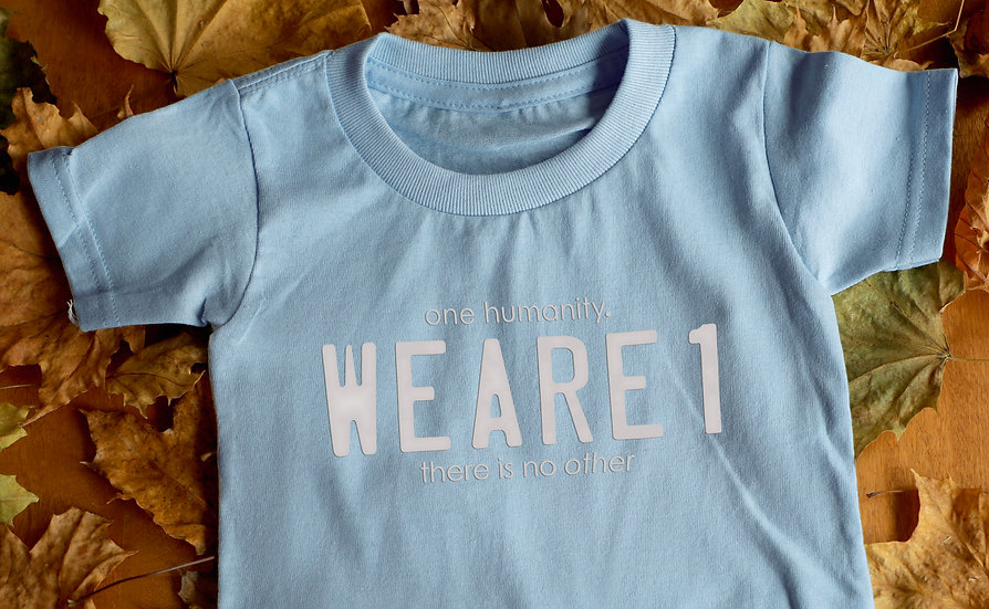White Toddler T-Shirt - We Are One Humanity