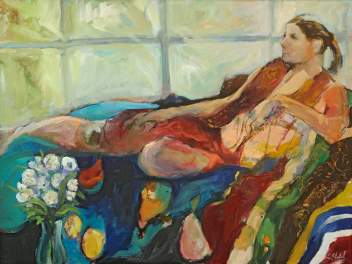 Odalisque With Pears 40x30