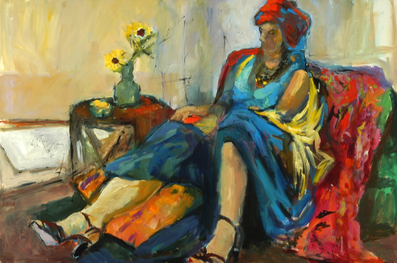 Woman in a Turban 36x24