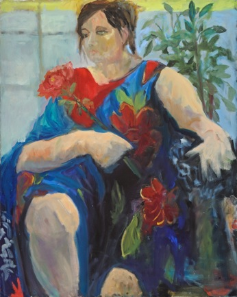 Woman with a Rose 24x30