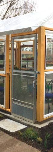 Custom Greenhouse made with 1930's windows
