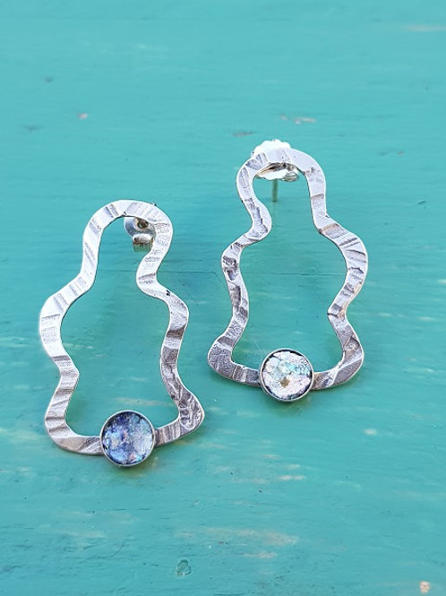 Solid Sterling Silver - Contour Post back Earrings