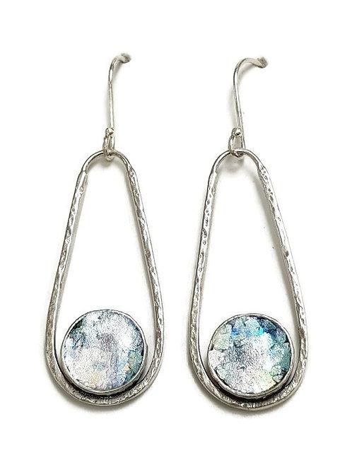 Roman Glass Sterling Silver 925 Graceful Drop Earrings
