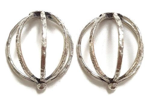Half Cage Earrings - Sterling Silver 925