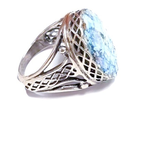 Ancient Roman Glass and Sterling Silver 925 - Roma Ring